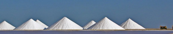 Salt mining on Bonaire now